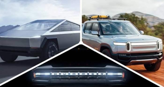 معركة الشاحنات الكهربائية: جي إم سي Hummer EV ، تسلا Cybertruck ، ريفيان R1T