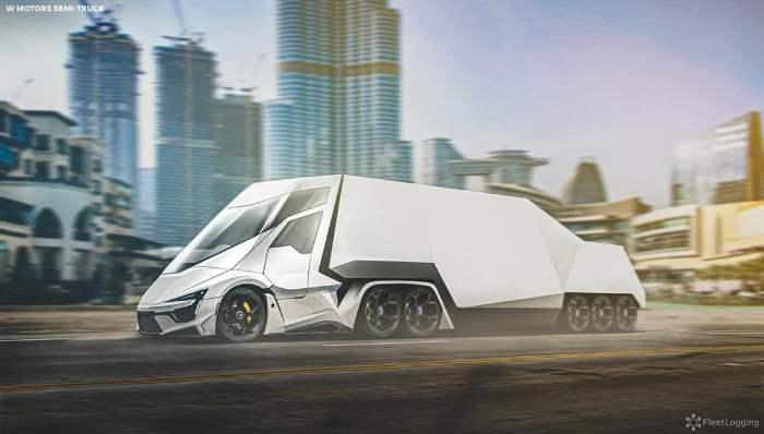 صور 7 شاحنات نصف Semi-Trucks من أشهر صانعي السيارات الخارقة