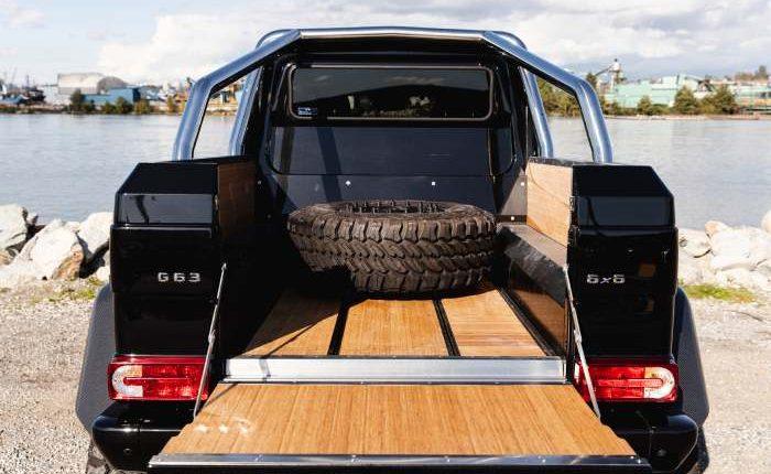 شاحنة مرسيدس بنز G63 AMG 6 × 6 النادرة تعرض للبيع في أمريكا